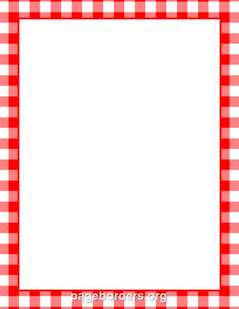 menu borders template printable menu border with a and white gingham pattern