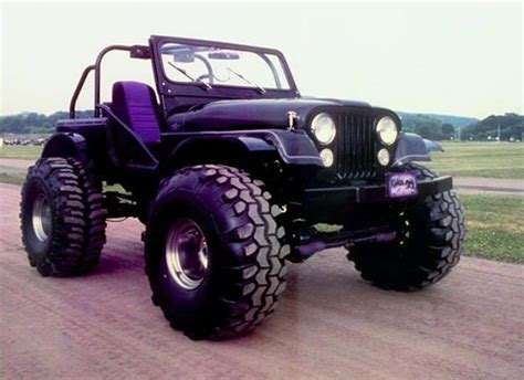 big jeep cars purple jeep big tires 4wd nation pinterest love this