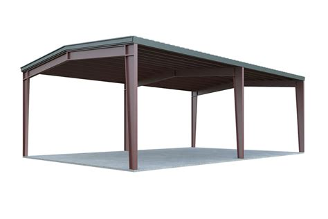 Cost Per Square Foot To Build A Home 24x24 metal carport general steel shop
