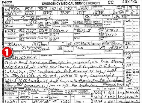 ems patient care report sle march 2010 michael jackson quot quot investigation page 4