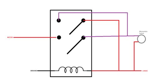 how do i turn a relay on and with two momentary switches