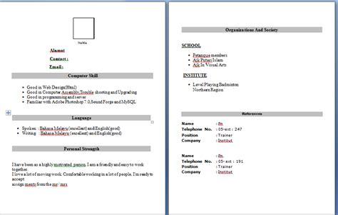 cara membuat resume inggeris snsdlittlenote contoh resume untuk praktikal