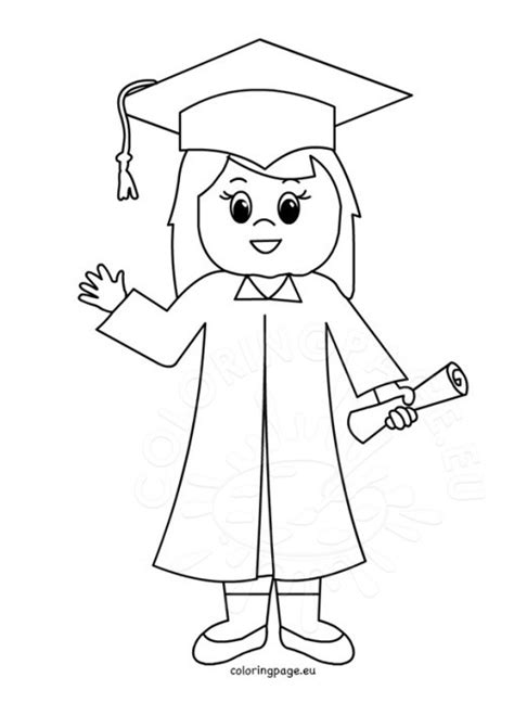 boy graduation coloring page school coloring page