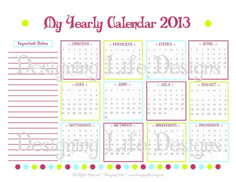 printable year planner yearly calendar 2017 printable calendar