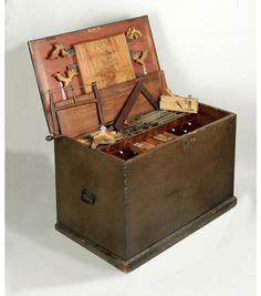 cabinet maker renowned for his chairs this tool chest has a well up top for hand planes and saws