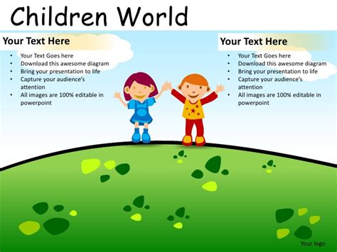 powerpoint themes slideshare children world powerpoint presentation templates