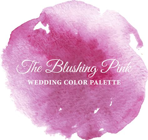 blushing pink color the blushing pink wedding color palette linentablecloth