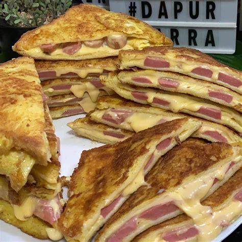 buat pizza homemade guna roti sandwich cukup