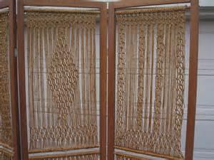 Macrame Room Divider Vintage Macrame Room Divider Screen Retro Renovation