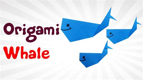 origami whale tutorial origami whale easy how to make a paper whale diy easy