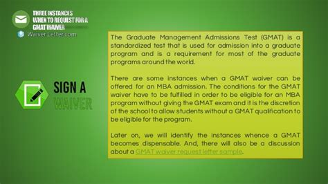 Gmat Waiver Mba by Three Instances When To Request For A Gmat Waiver