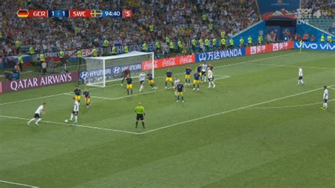 stunning last minute free kick gives germany victory sweden 1 news now tvnz