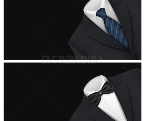 Black Suit Business Card Template by Business Card Suit With A Tie Template Creadib