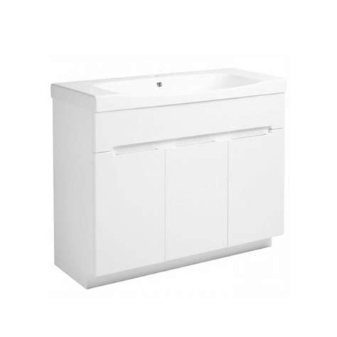 white gloss freestanding bathroom furniture roper diverge gloss white 1000mm freestanding unit