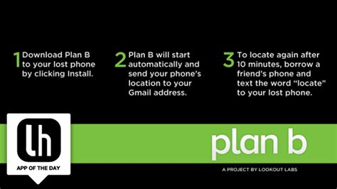 plan b android plan b locates your lost or stolen android phone even if you didn t install it beforehand