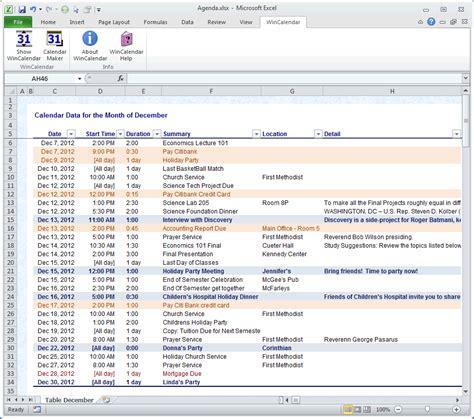 Calendar Spreadsheet Import Calendar Maker Calendar Creator For Word And Excel