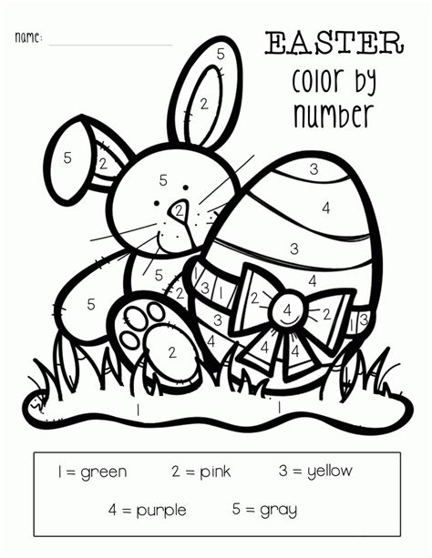 color by number easter color by numbers best coloring pages for