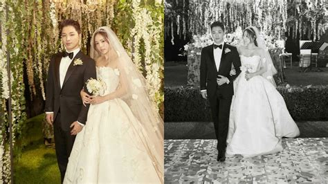 Wedding Dress Taeyang by Taeyang Min Hyo Rin S Wedding In Photos
