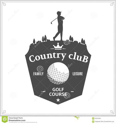 Golf Country Club Logo Template Or Icon For Tournament Vector Illustration Cartoondealer Com Golf Tournament Logo Template