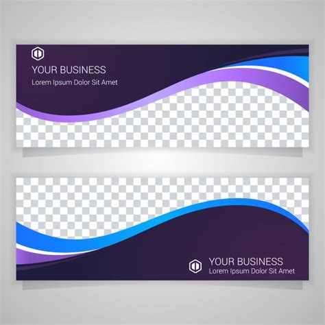 templates business banner purple business banner template vector free download