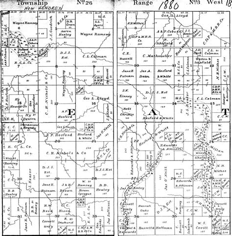 Eaton County Records Eaton Township Clark County Plat Map Project