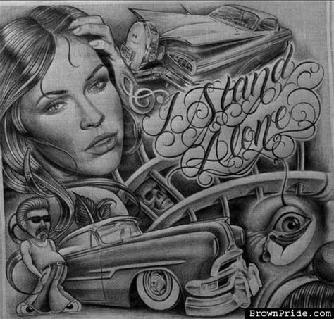 lowrider cholo drawings car interior design
