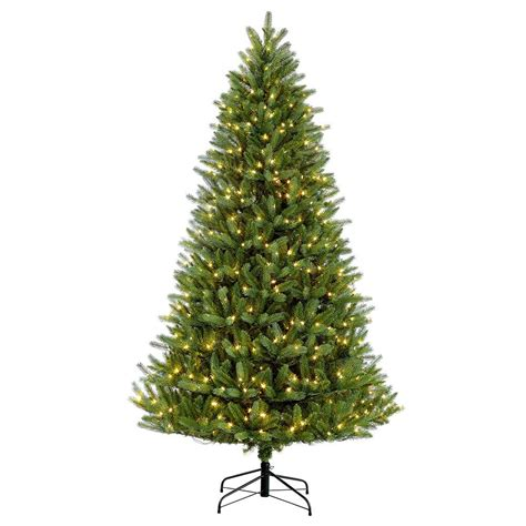 75 holiday time pre lit linden fir artificial christmas tree puleo 7 5 ft pre lit fraser fir artificial tree with 750 clear lights 277 ff 75c75