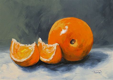 orange painting fresh orange iii painting by torrie smiley