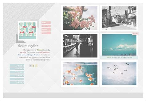 tumblr themes with photo captions cocorini themes patterns themes