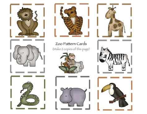 free printable zoo animal cutouts at the zoo part 2 printable preschool printables