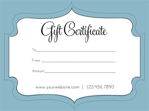 free business gift certificate template auction
