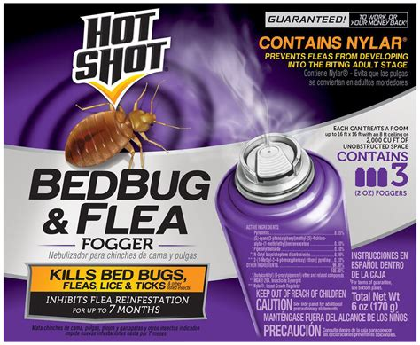 insect spray fogger killer bed bug flea lice tick indoor home bath carpet  pack ebay