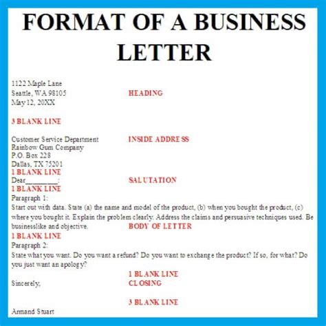 business letter layout format format business letter business letter exles
