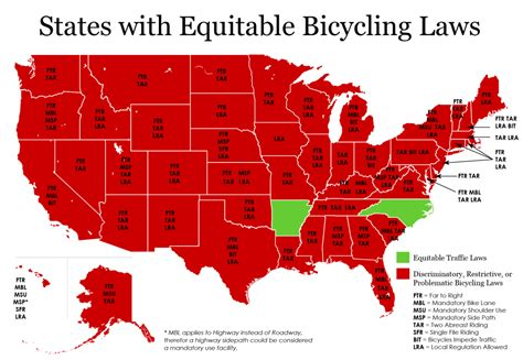 map of the united states arkansas u s bicycle laws by state i am traffic