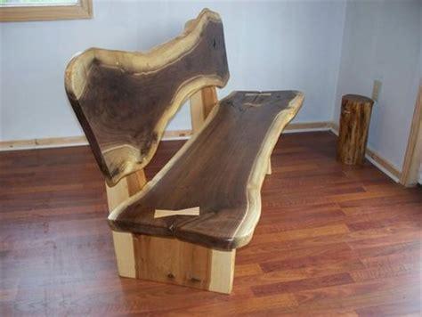 edge  form nakashima style walnut bench