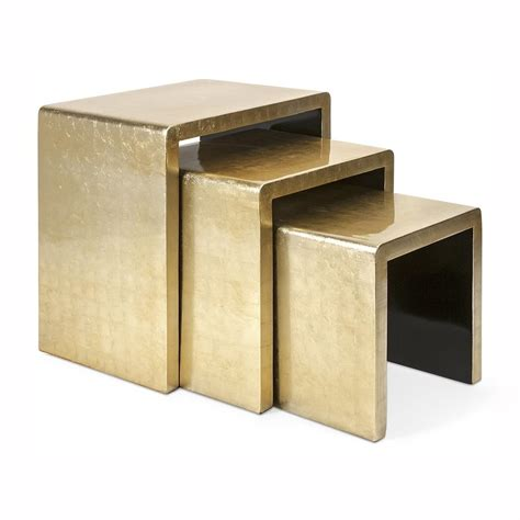 accent table set shop imax worldwide elaine 3 piece gold accent table set