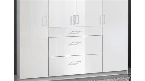 Kleiderschrank 180 Cm Breit Weiss by Kleiderschrank Clack In Hochglanz Wei 223 Alpinwei 223 180 Cm