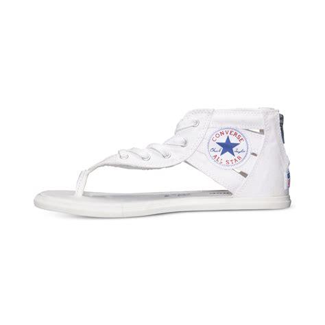 white converse sandals lyst converse s chuck gladiator
