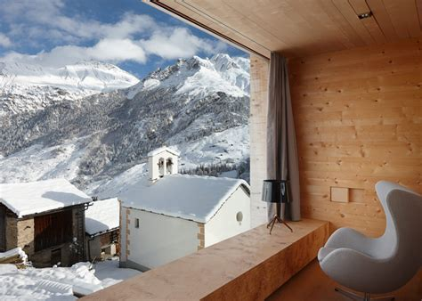 Charming Wood Cabins in Swiss village of Leis in Vals