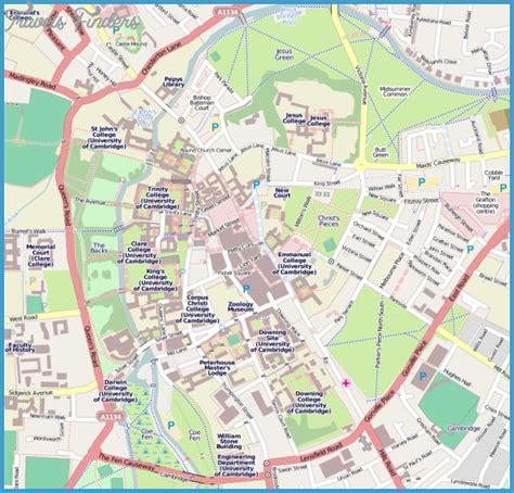 map uk cambridge cambridge map tourist attractions travelsfinders