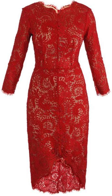 beli kain pattern inspirasi red lace dress beli brokat di toko kain medium