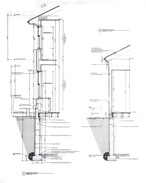 wall section dwg architecture design wall sections