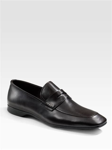prada mens loafer prada bit loafers in brown for lyst