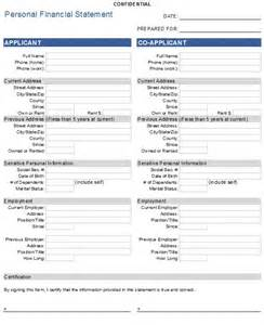 financial statement template free 40 personal financial statement templates forms