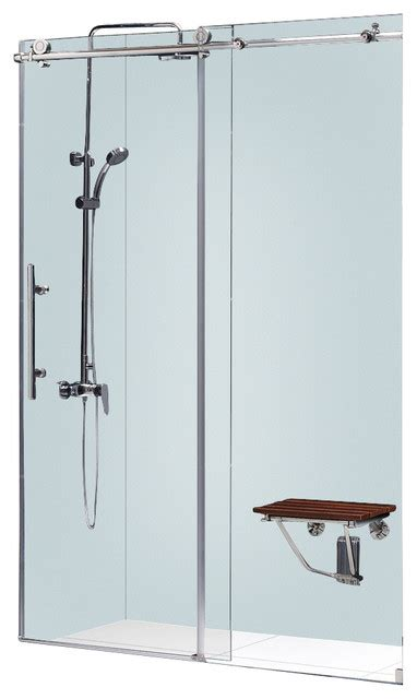 Sliding Shower Doors Parts Enigma X Fully Frameless Sliding Shower Door 56 60 Quot W X 76 Quot H Modern Shower Doors By
