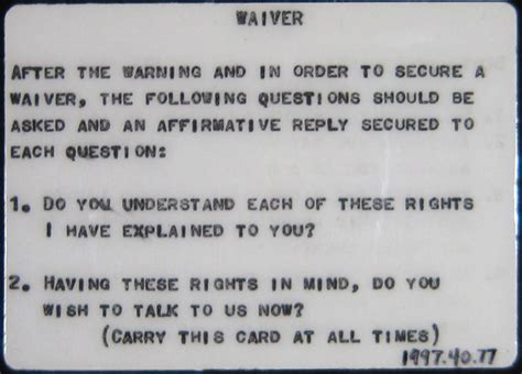 printable rights card miranda warning history how the language of the warning