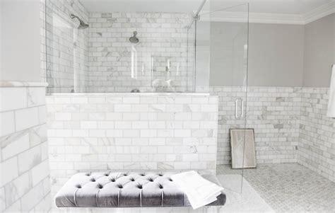 white marble tile bathroom calcutta gold marble subway tile contemporary bathroom