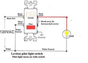 single pole switch with pilot light wiring diagram free