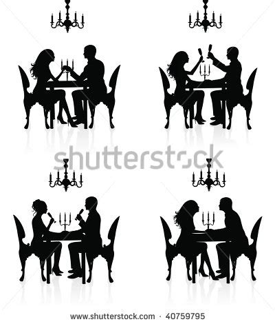 dinner silhouette dinner silhouette free images