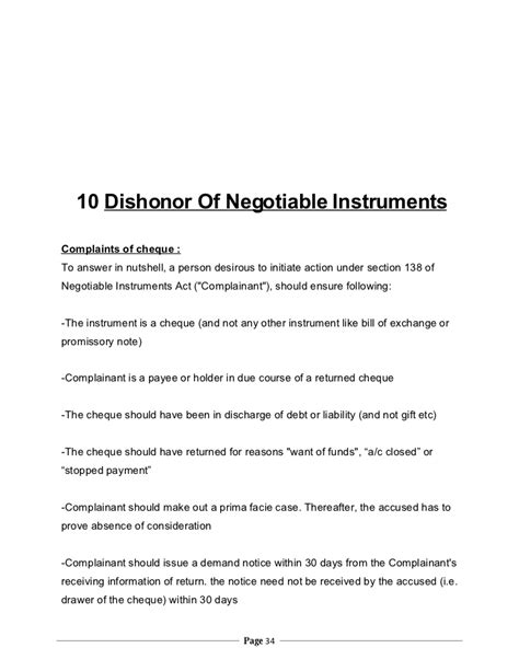 section 1 negotiable instruments law negotiable instruments act